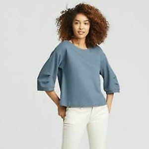 Eileen Fisher Organic Cotton Blend Top in Chambray